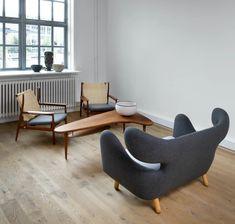 The original Finn Juhl sofa Egg Chair, Danish Design, Lounge, Couch, The Originals, Furniture, Tables, Home Decor, Chair