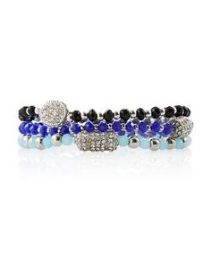 White House | Black Market Indigo Jet Stretch Beaded Bracelets #whbm...just purchased these & I LOVE them !!