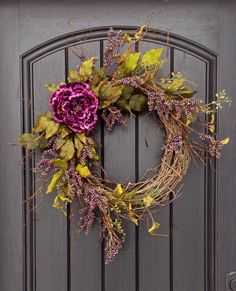 Spring Wreath Summer Wreath Fall Wreath Berry Twig Grapevine Door Wreath Decor