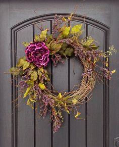 Spring Wreath Summer Wreath Fall Wreath Berry Twig Grapevine Door Wreath Decor