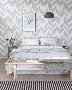Self adhesive vinyl wallpaper, wall decal - Herringbone pattern print - 044 SNOW / WHISPER