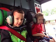 Kids ride to school on the fire truck. Great donation item for silent auctions & community equity building.