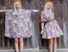 I have this H&M dress! I'd never wear it with a belt as it has a lovely loose drape to it (think it looks awful belted here, ruins the shape). Blog post by La Bouilloire Noire makes a pattern for a dress like this, may have a go too, it's a lovely dress to wear.