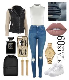 """""""drake"""" by raaymacs ❤ liked on Polyvore featuring Topshop, NIKE, Rains, Chloé, Chiara Ferragni, Chanel, Lacoste, Lime Crime, Drakes London and DRAKE"""