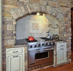 gas stove with stone