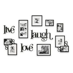 Live Love Laugh Photo Wall Gallery Google Search