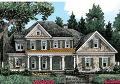Waterstone Place - Home Plans and House Plans by Frank Betz Associates #waterstone #homeplans #frankbetz  #floorplans #capecod