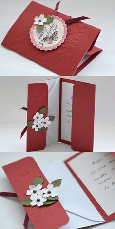 Bordeaux Card with Envelope Holder