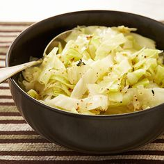 Sloppy, smelly cabbage is nobody's idea of great food. We were after a cooked side dish that we'd actually want to eat. Braised Cabbage, Beer Recipes, Vegetable Recipes, Cooking Recipes, Cabbage And Bacon, Cabbage Recipes, Green Cabbage, Grilled Sausage, Spare Ribs