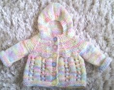 marianna's lazy daisy days: Adding a Hood to My Baby Patterns Baby Knitting Patterns, Baby Cardigan Knitting Pattern Free, Knitted Baby Cardigan, Baby Clothes Patterns, Kids Patterns, Doll Patterns, Crochet Patterns, Free Knitting, Vogue Patterns