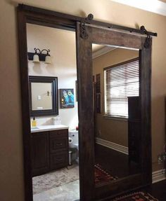 Loving this idea! Home Renovation, Home Remodeling, Bathroom Renovations, Decorating Bathrooms, Basement Decorating, Bathroom Makeovers, Home Deco, Style At Home, Design Case