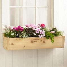 Our cedar window planters lend a charming touch for any home facade.