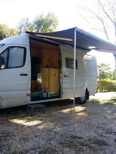 Mercedes Sprinter RV Campervan Conversion Awning Out