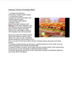Subway Chicken Enchilada Melts