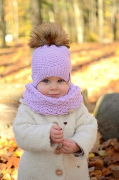 Baby Girl Winter Hat, Toddler Girl Winter Hat, Knitted Girls Winter Hat, Faux Fur Pompom Baby Girl H, Baby Girl Winter Hats, Baby Girl Hats, Girl With Hat, Baby Winter, Crochet Hat Size Chart, Knitted Hats, Crochet Hats, Crochet Beanie, Free Crochet