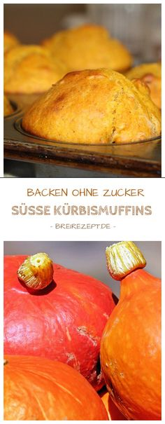 Kürbismuffins ohne Zucker