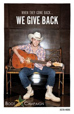 Justin Moore says get your Boots on! Get YOUR BOOTS on! http://www.bootcampaign.com