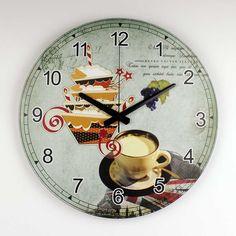 Brand Mediterranean style kitchen wall decor watch with waterproof clock face…