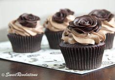 Modeling chocolate chocolates, chocolate cupcakes, dark chocol, tutorial, rose cake, cupcake cakes, cupcake toppers, modeling chocolate, chocol roses1