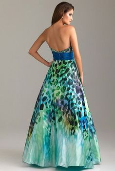Another image of Night Moves Colorful Wild Animal Print Prom Dress 6455  Animal Print Prom Dresses 843eebf05