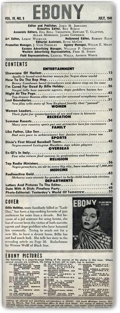 Ebony July 1949目次