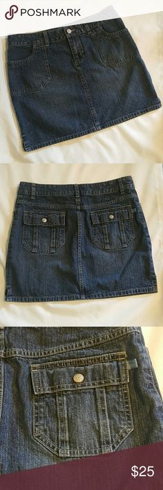 Canyon River Blues Mini Jean Skirt 7 Jean Mini Skirt 7 Dark Wash, Super Cute,  Pockets on front and back.  Total length is 15 inches, waist is 30 All reasonable offers accepted   Re214 canyon river blues Skirts Mini