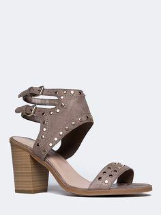 Linq Studded Open Toe Heel - ZOOSHOO