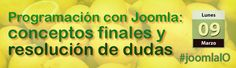 El próximo lunes no te pierdas Programación con Joomla: conceptos finales y resolución de dudas #joomlaIO: http://www.desarrolloweb.com/en-directo/programacion-conceptos-dudas-joomlaio-8830.html