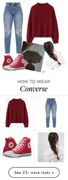 """""""bye bye"""" by jemmalyynch on Polyvore featuring GET LOST, Converse, ASOS, rainy, bye and grunge"""