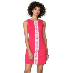 Women's Chaps Lace-Trim Jacquard Dress, Size: 16, Red