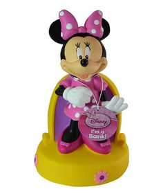 Another great find on #zulily! Minnie Mouse Coin Bank by Minnie Mouse #zulilyfinds