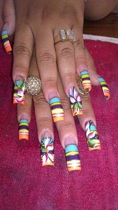 6 color and flower by aleyka61 - Nail Art Gallery nailartgallery.nailsmag.com by Nails Magazine www.nailsmag.com #nailart