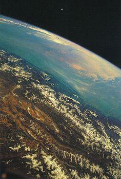 Himalayas from space via http://stellar-indulgence.tumblr.com