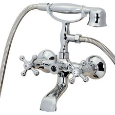 Kingston Brass Vintage Wall Mount Clawfoot Tub Filler With Hand Shower |  Ceramics, Wall Mount And Kingston