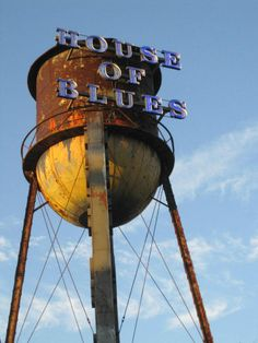 The water tower outside the House of Blues in Downtown Disney, Orlando.