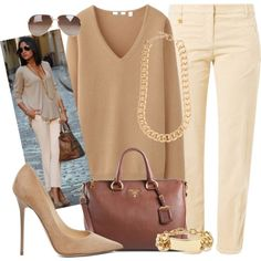 Lovely Neutrals, created by rusinn on Polyvore