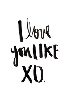 I Love You Like XO - Beyonce