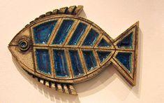 Fish wall decor, blue fish wall art - Handmade with love from Greece Fish Wall Decor, Fish Wall Art, 3d Wall Art, Ceramic Fish, Ceramic Wall Art, Fish Sculpture, Wall Sculptures, Modern Ceramics, Contemporary Ceramics
