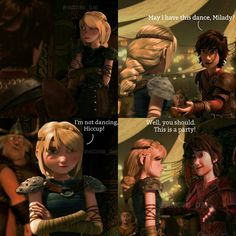 """""""1/4 -May I have this dance? I have worked on a new comic row. Make yourself ready. I'm gonna bombard you with hiccstrid romancee! Whoop whoop #hiccup…"""""""