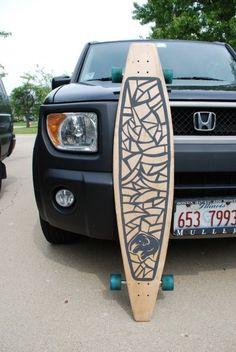 DIY Longboard with custom cut grip