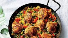 """Paella Recipes Chicken You accept heard of Seafood Spaghetti, Seafood Risotto, alike Seafood Paella, but accept you heard of Portuguese Seafood Rice, Arroz de Marisco?[[caption id="""""""" Chicken Paella, Easy Chicken And Rice, Chicken Rice, Healthy Chicken, Baked Chicken, Cooking Light Recipes, Cooking Ideas, Cooking Corn, What's Cooking"""