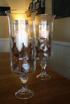 Dollar Tree store version of Williams Sonoma glass hurricanes!