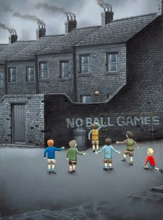 New Leigh Lambert limited editions at the gallery, love this one, 'Oh No Not Again' Leigh Lambert, Nostalgic Art, Flash Art, Brickwork, Naive Art, Triptych, Pictures To Paint, Banksy, Light Art