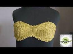 Shop stylish women's swimwear at FABKINI & find tankinis, bikinis, one-piece swimsuits, monokinis & more. Crochet Bra, Crochet Bikini Pattern, Crochet Bikini Top, Crochet Clothes, Swimsuit Pattern, Crochet Designs, Crochet Patterns, Knitted Swimsuit, Baby Boy Crochet Blanket