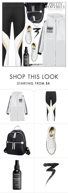 """""""Gym Style"""" by selma3355 ❤ liked on Polyvore featuring Converse, NYX, Manic Panic NYC, sporty, gymstyle, polyvoreset and zaful"""