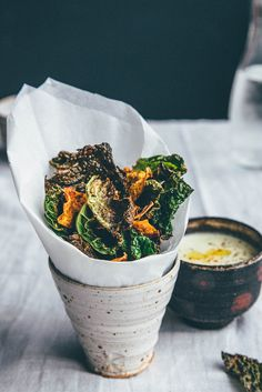 Spicy Green Cabbage and Sweet Potato Crisps