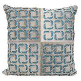 Found it at Wayfair - Laser Squares Leather Throw Pillow