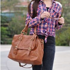 $14.99 New Arrival Casual Solid Color Zipper Big Bag For Women @SammydressPin #PinToWin