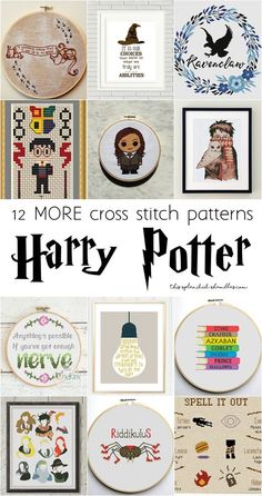 12 MORE Harry Potter Cross Stitch Patterns for all those geeky creatives out there. Find all the links on This Splendid Shambles!