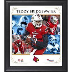 "Teddy Bridgewater Louisville Cardinals Fanatics Authentic Framed 15"" x 17"" Core Composite Photograph"